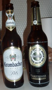 Warfteiner and Krombacher Pils