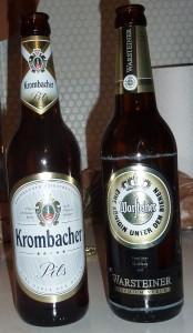 Warfteiner and Krombacher Pils