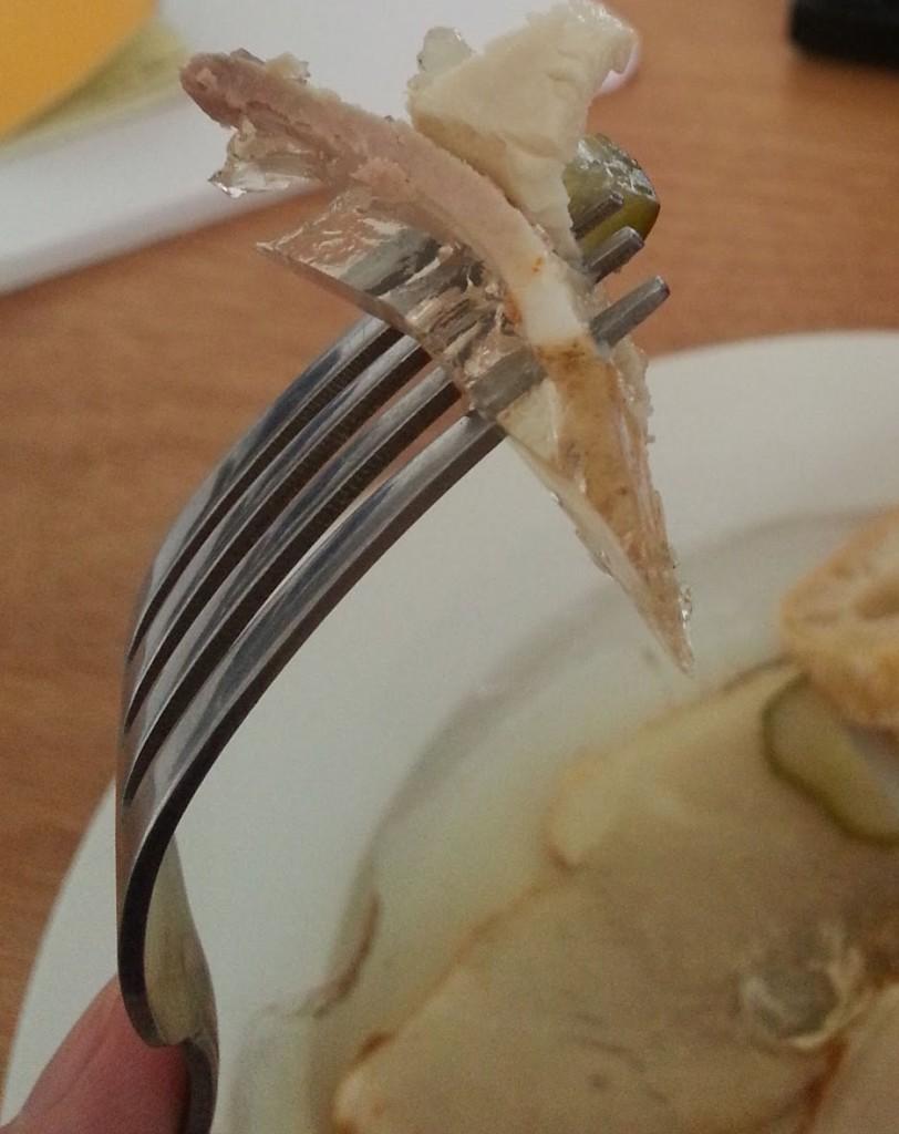 Bratensülze on a Fork