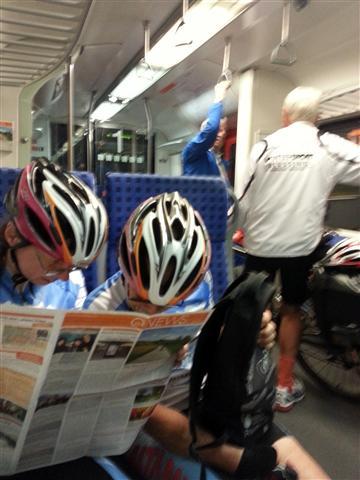 Helmets on the Train