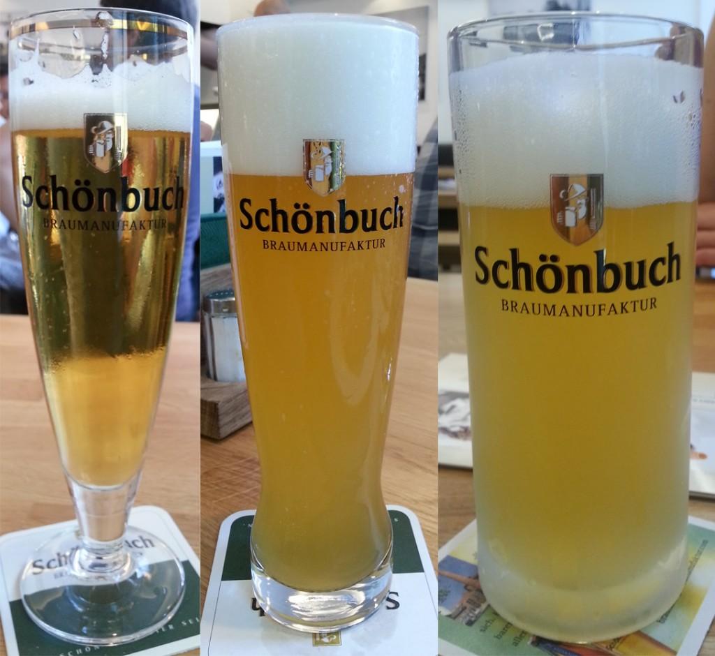 Schönbuch Pils, Hefeweizen, Naturtrüb