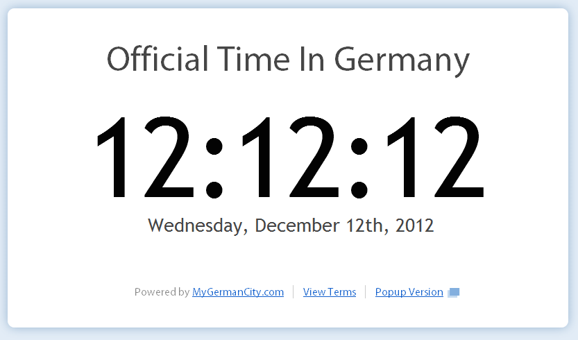 December 12, 2012, 12:12:12