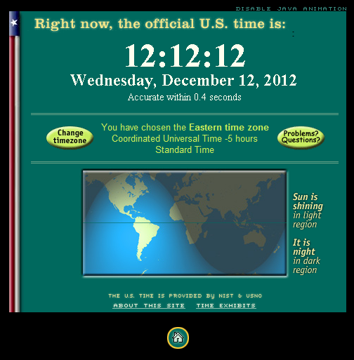 New York Time, December 12th 2012 12hr 12min 12sec